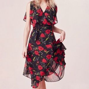 Kimchi Blue Urban Outfitters Floral Wrap Dress